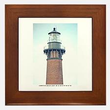 Currituck Beach Light Framed Tile