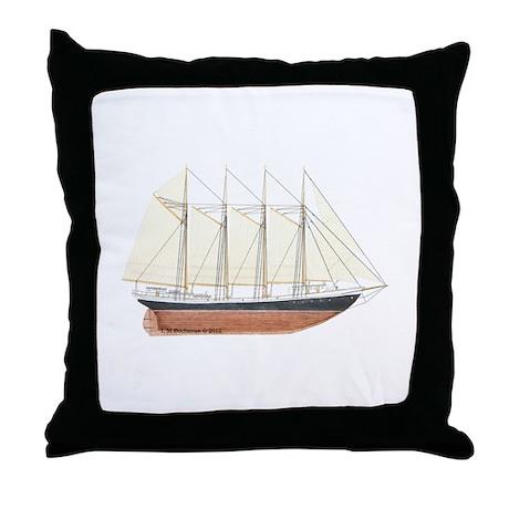 Cod FIshing Schooner Throw Pillow