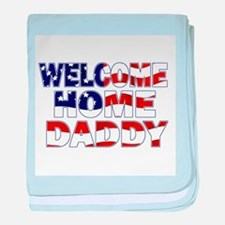 Welcome Home Daddy (Flag) baby blanket