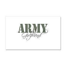 Army Girlfriend Car Magnet 20 x 12