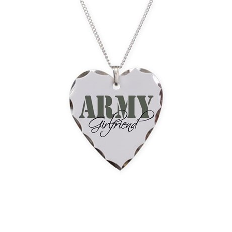 Army Girlfriend Necklace Heart Charm