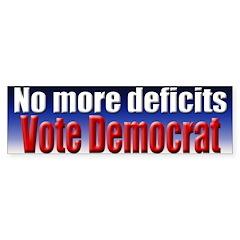 No More Deficits Bumper Bumper Sticker