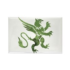 Green Gryphon Rectangle Magnet