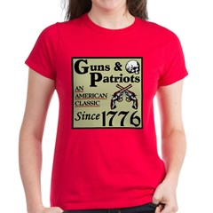 """Guns & Patriots"" Women's Dark T-Shi"