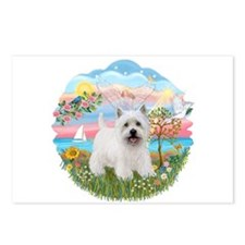 AngelStar-Westie5 Postcards (Package of 8)