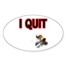 I Quit Smoking Oval Decal