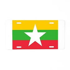 Flag of Burma Aluminum License Plate