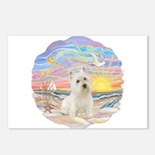 OceanSunrise-Westie11 Postcards (Package of 8)