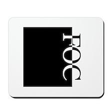 FOC Typography Mousepad