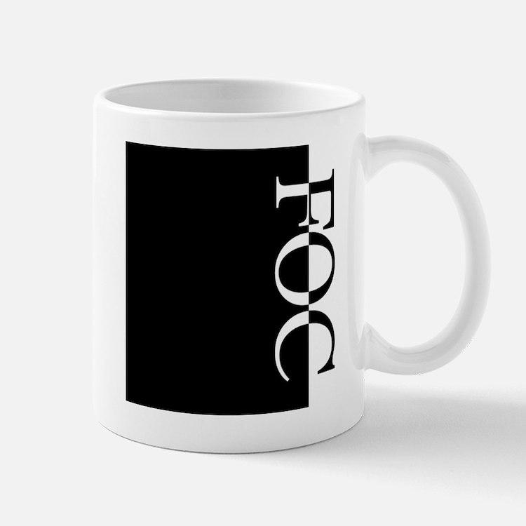 FOC Typography Mug