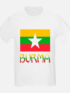 Burma Flag & Word T-Shirt