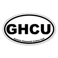 Generic Humanoid Carbon Unit Oval Decal