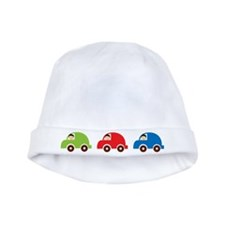 Car Trio Red Blue Green baby hat