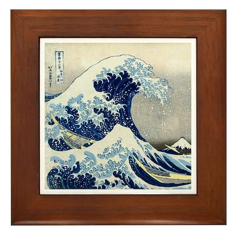 Hokusai - Kanagawa Framed Tile