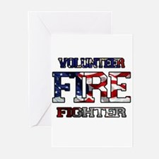 Volunteer Fire Fighter Greeting Cards (Pk of 10)