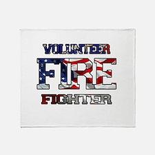 Volunteer Fire Fighter Throw Blanket
