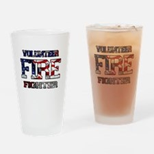 Volunteer Fire Fighter Drinking Glass