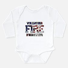 Volunteer Fire Fighter Long Sleeve Infant Bodysuit