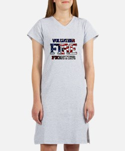 Volunteer Fire Fighter Women's Nightshirt