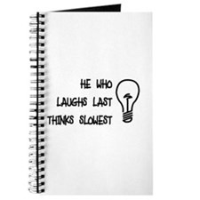 He who laughs last thinks slo Journal