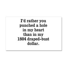 Hole in Heart Car Magnet 20 x 12