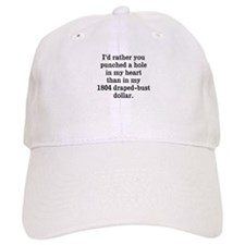 Hole in Heart Baseball Cap