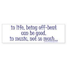OffBeat Music Bumper Bumper Sticker