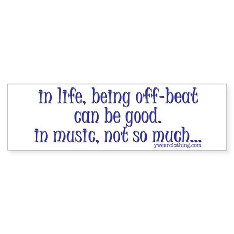 OffBeat Music Bumper Sticker