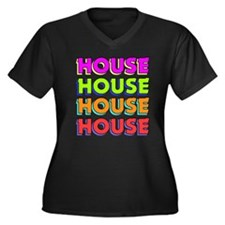 House Women's Plus Size V-Neck Dark T-Shirt
