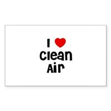 I * Clean Air Rectangle Decal