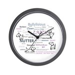 lubly bully original designs Wall Clock