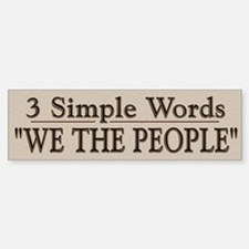 3 Simple Words - Bumper Bumper Bumper Sticker