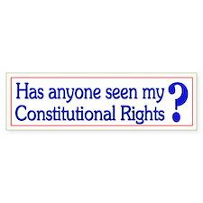 Funny Political Constitution - Bumper Bumper Sticker