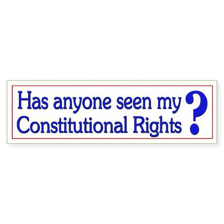 Funny Political Constitution - Bumper Sticker