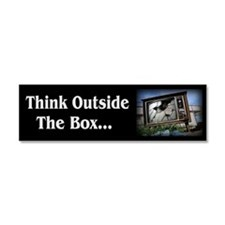 Think Outside The Box - Car Magnet 10 x 3