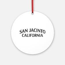 San Jacinto California Ornament (Round)