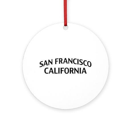 San Francisco California Ornament (Round)