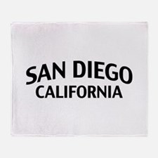 San Diego California Throw Blanket