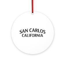 San Carlos California Ornament (Round)