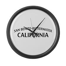 San Benito-Bitterwater California Large Wall Clock