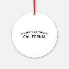 San Benito-Bitterwater California Ornament (Round)