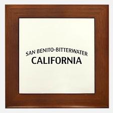 San Benito-Bitterwater California Framed Tile