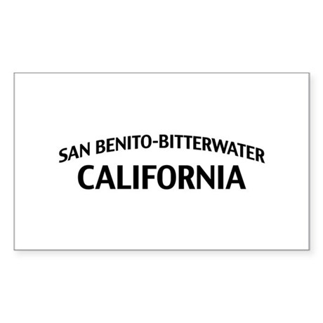 San Benito-Bitterwater California Sticker (Rectang