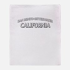 San Benito-Bitterwater California Throw Blanket