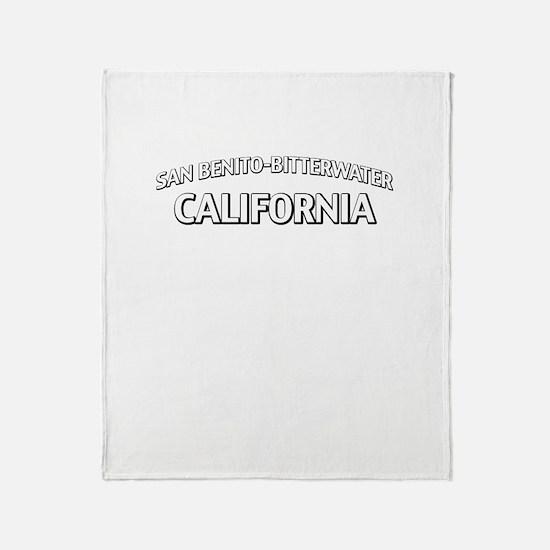 San Benito-Bitterwater California Throw Blanket