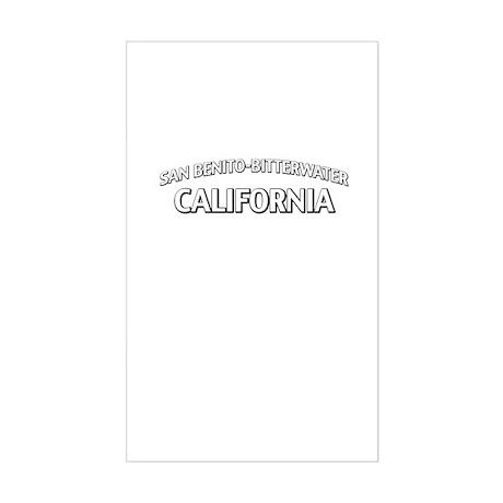 San Benito-Bitterwater California Sticker (Rectang