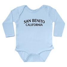 San Benito California Long Sleeve Infant Bodysuit