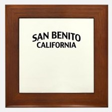 San Benito California Framed Tile