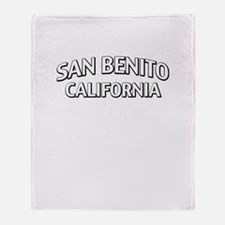 San Benito California Throw Blanket