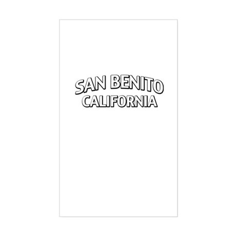 San Benito California Sticker (Rectangle)